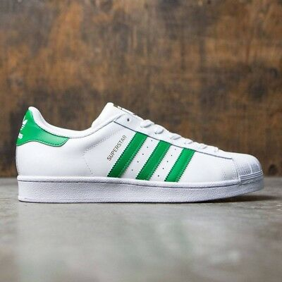 save off 057d5 89561 ADIDAS ORIGINALS SUPERSTAR Mens Shoes [By3715]White Green-Gold Metallic  Size 8.5