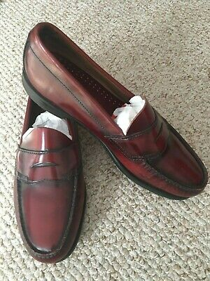 5ef5b8169f5 BASS WEEJUNS PENNY Loafers Dress Shoes Burgundy Leather Mens Sz 10 ...