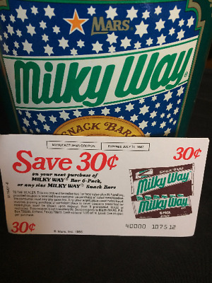 Vintage '80's Mars Milky Way Tin Canister with Bonus Coupon!