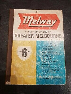 Melways No 6 1973 Street Directory