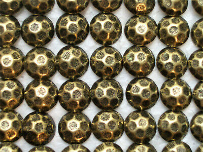 100 Hammered Head Antique Brass Finish Decorative Upholstery Tacks / Nails