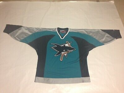 Men's Vintage Pro Player San Jose Sharks Jersey, Teal, Size Large, Look!!!
