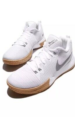 7a78a07e1c84 Nike Zoom Live II EP 2 White Reflect Silver Gum Men Basketball AH7567-100  Size