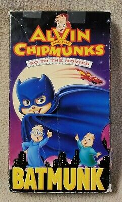 ALVIN & THE CHIPMUNKS Go to the Movies BATMUNK VHS Video Tape Bagdasarian 1992