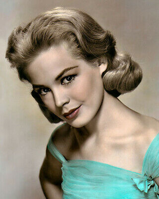 """SANDRA DEE MOVIE STAR HOLLYWOOD ACTRESS & 8x10"""" HAND COLOR TINTED PHOTOGRAPH"""