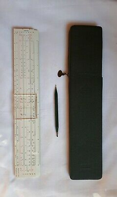 Vintage Faber Castell Slide Rule 111/54A Addiator with case & Stylus