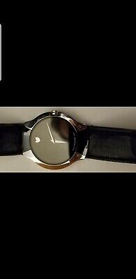 Movado Men Luxury Watch Sapphire Crystal Stainless Steel Leather Band 83 G1 1891