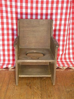 Vintage Chair Wooden Potty Chair Child's Chair Shabby Chic Country Seating