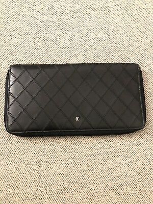 cdc81c3bf3cf AUTHENTIC CHANEL SOFT Caviar Leather Large Travel Wallet Clutch in ...