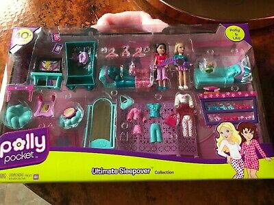 Polly Pocket Ultimate Sleepover Collection Polly & Lila 40+Pieces Very Cool!