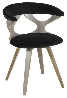 Astounding Mid Century Modern Dining Chair In Light Gray And Black Id Creativecarmelina Interior Chair Design Creativecarmelinacom