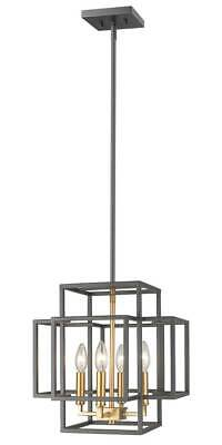 4-Light Pendant in Bronze and Olde Brass Finish [ID 3734468]