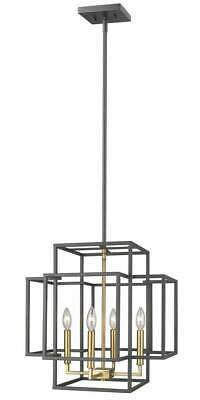 4-Light Transitional Pendant in Bronze and Olde Brass Finish [ID 3734470]