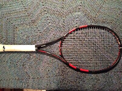 Babolat Pure Strike 100 (Black/Coral) - 4 1/4 grip