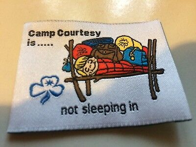 Girl Guides / Scouts Camp courtesy is not sleeping in