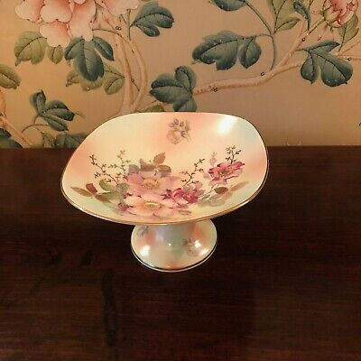 Schumann Arzberg Wild Roses Germany. On Pedestal Compote Dish. Marked