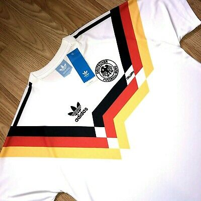 S-XXL 1990 WEST GERMANY Retro Home Shirt Remake Football Soccer Jersey World Cup