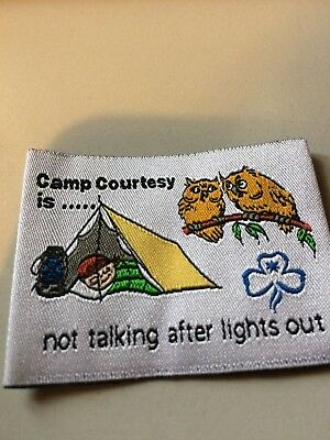 Girl Guides / Scouts Camp courtesy is not talking after lights out