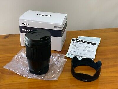Sigma 16mm F/1.4-16 DC DN Contemporary Lens for Sony - Superb Condition