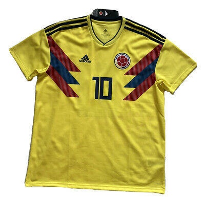 sale retailer 0d355 1f8dd 2018 COLOMBIA HOME Jersey #10 JAMES XL ADIDAS World Cup Soccer S/S NEW