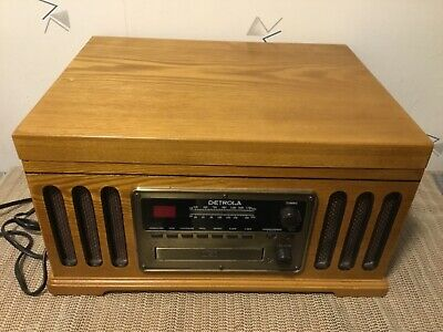 Detrola KM837 Wooden Record Player, CD, AM/FM and Cassette