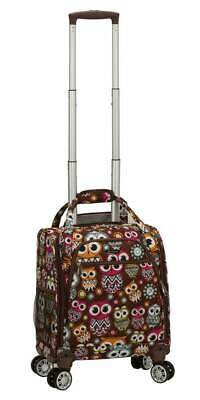 Wheeled Underseat Carry On Luggage Spinner in Owl [ID 3759019]