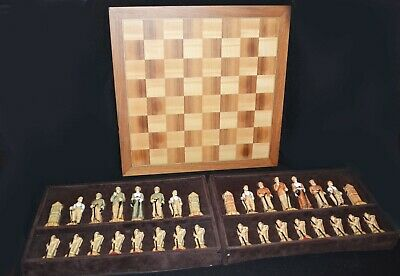 Studio Anne Carlton SAC Ltd Hand Crafted Chess Set History Of Golf Figures