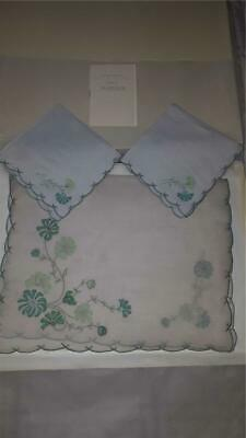 Unused Vintage Cornflower MARGHAB LINEN *PLACEMAT & 2xNAPKINS *MADEIRA *In Box