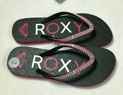 85855d35ca59 Roxy Flip Flop Thong Sandals Womens Size 7 Purple White Rubber Bead Strap  New