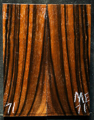 "Macassar Ebony #71 Knife Scales 5""x2""x 7/16"" see 100 species in my store"