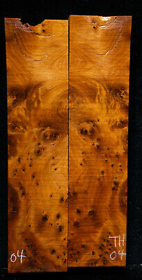 """Thuyu Burl #04 Knife Scales 5-7""""x1.7""""x 3/8"""" see 100 species in my store"""