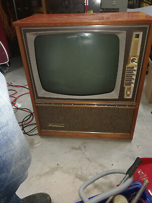 Old AWA B&W valve television and licences