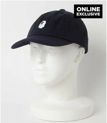 b42c1c842928 A BATHING APE ONLINE EXCLUSIVE HEAD EMBROIDERY PANEL CAP Mens BLK Japan  Tracking