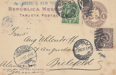 Mexico: 1907: post card to Bielefeld