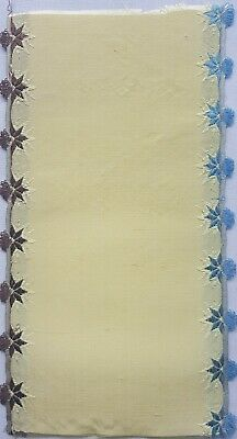 Antique Silk Ribbon Coupon Sample Florals  Ruffle Edge French 1800's #2