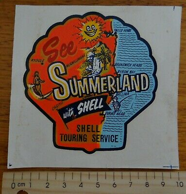1 x OLD SCHOOL SEE SUMMERLAND WITH SHELL TOURING SERVICE CAR TRANSFER
