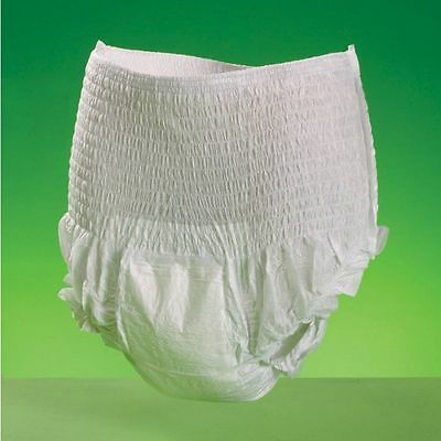 Adult Nappy Diaper Extra Absorption Incontinence Pants Unisex Medium DISCRETE