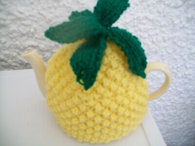 Hand Knitted Pineapple Tea Cosy  For A Medium 3-4 Cup Teapot