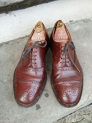 Vintage Leather Oxford Loake Brogue York Shoes.50s 60s Soul Boy Conker Brown.S 7