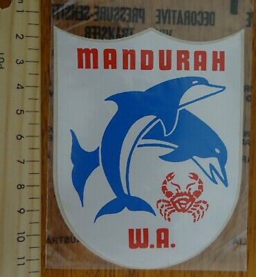 1 x RETRO MANDURAH W.A. COLLECTABLE STICKER / VINYL TRANSFER