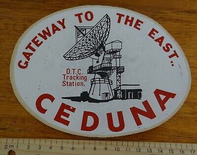 1 x RETRO O.T.C TRACKING STATION CEDUNA SOUTH AUSTRALIA COLLECTABLE STICKER