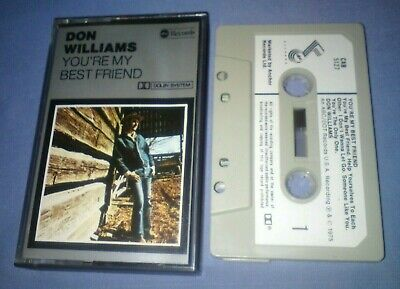 DON WILLIAMS YOU'RE MY BEST FRIEND PAPER LABELS cassette tape album T5641