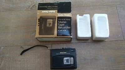 Radio Shack CTR-96 Portable VOX Voice Activated Tape Player Recorder Spy Lecture