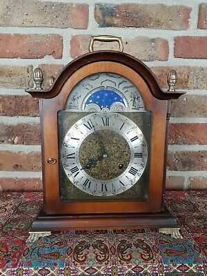 Table clock with Moon Phase Calendar and Double Bell, (1977)