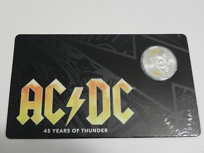 2018 AC/DC 50 Cent Coin - 45 Years Of Thunder