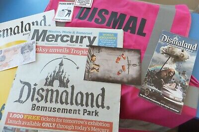 Banksy signed tenner & Dismaland Programme + lots of dismal memorabilia