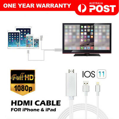 8 Pin Lightning to HDMI Digital TV AV Adapter Cable For iPhone XS MAX 6 7 8 iPad