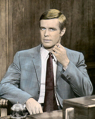 """GEORGE PEPPARD THE CARPETBAGGERS 1964 ACTOR 8x10"""" HAND COLOR TINTED PHOTOGRAPH"""