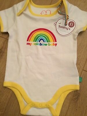 Little Bird By Jools Oliver 12-18 Months Rainbow Baby Bodysuit / Vest Bnwt 🌈