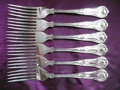 Lovely Set Of 6 Kings Pattern Epns A1 Silver Plated Dessert Fork Oliver & Bower